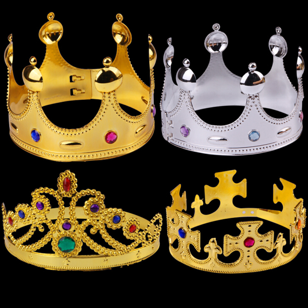 Birthday Imperial Crown Toy Crown Kid Toys Happy Birthday Party Decoration Royal King Plastic Crown Prince Costume Accessory D27