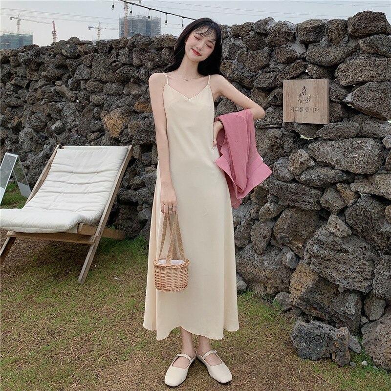 Платье на бретельках в стиле колледжа, Сказочная леди, суперфея в стиле мори, первая любовь, сладкий дизайн, нишевой летний комплект из двух ...