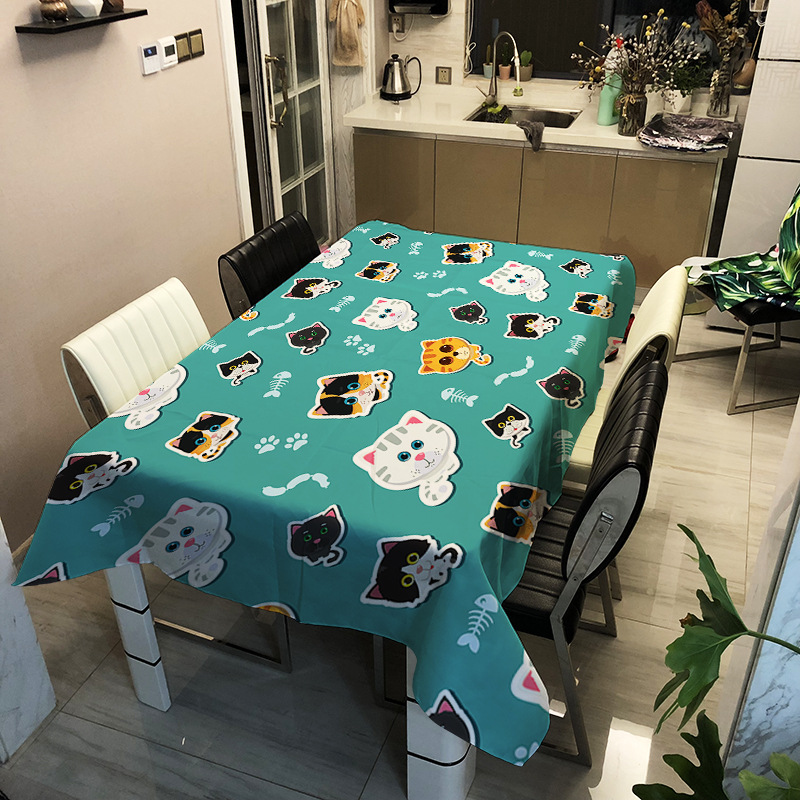 Tablecloth Waterproof And Oil Proof Table Cloth For Kitchen Decorative Dining Rectangle Table Cover For Table Home Textile