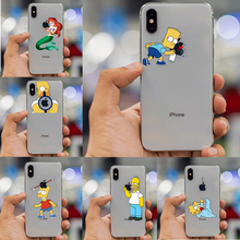 The Simpson TPU Soft Case For iPhone 4S 5C 5 5S SE 6 XS Max 7 8 Plus XR Funny Fundas Silicon Transparent High quality Coque