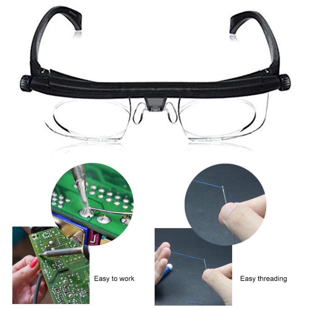 Adjustable Strength Lens Zoom Reading Glasses Eyewear Variable Focus Vision Eyeglass Magnification Presbyopic Glasses