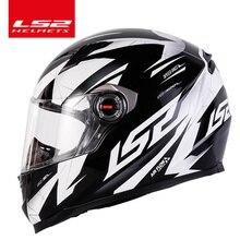 LS2 FF358 del fronte pieno moto rcycle casco ls2 samurai moto cross da corsa uomo donna casco moto casque LS2 ECE approvato senza pompa