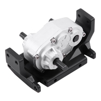 RC Car Metal Gearbox Transfer Case With Mount for SCX10 / D90 1/10 RC Crawler Car RC Metal Transfer Case