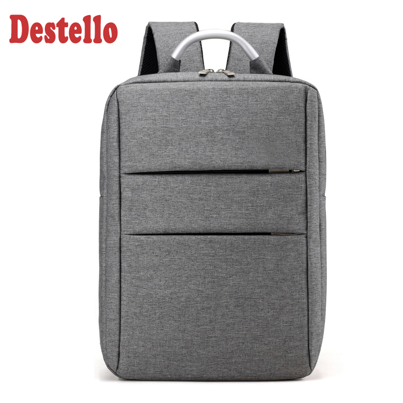 Fashion Double Lock Bagpack 14 Inch Laptop Backpack Men College Student High Capacity Travel Business Backpack Men Travel Bag