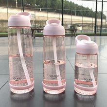 550/850/1000 ml esportes garrafas de água com a garrafa plástica da palha para o curso exterior crianças estudantes escola palha copo com punho
