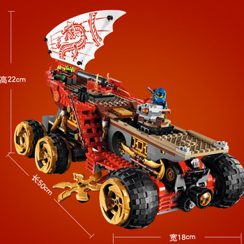 Lepin Ninjago 61029 858pcs Ninja Land Bounty Truck Model Building Blocks Compatible Lepining 70677 Ninjagoes Kids Toy Bricks 2