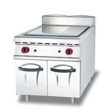 LPG/LNG Vertical Gas Type Half Plane Grain Connecting Cabinet Meat Frying Steak Oven Stove Teppanyaki Western Kitchen Fast