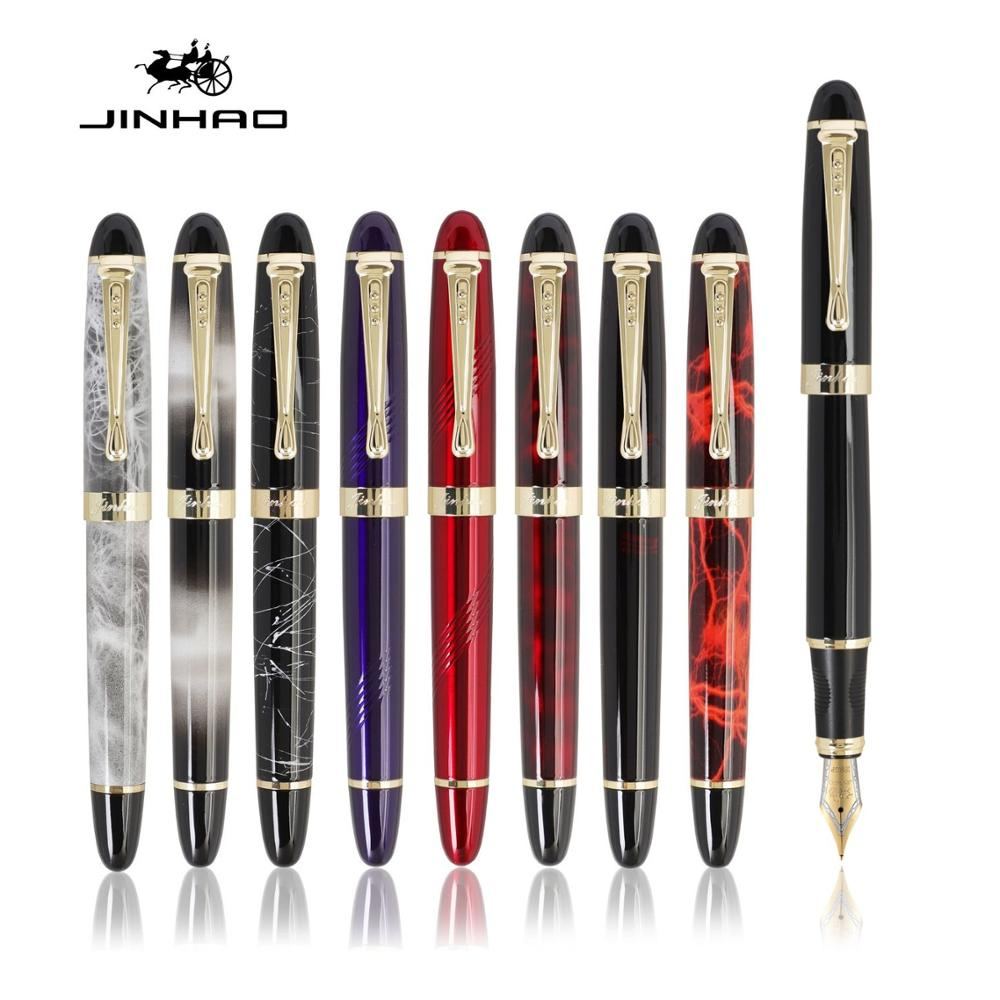Jinhao Classic Fountain Pen, Luxury Gold Trim Iraurita Tip Medium Writing, Jin Hao 450 Office Signature School Calligraphy A6293