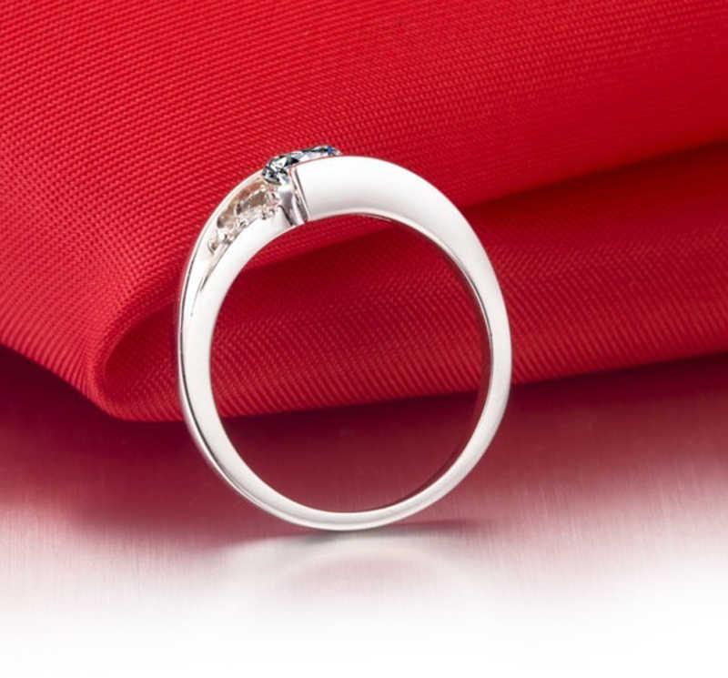 YANHUI Con Certificato di 0.75ct Lab Anelli di Diamante Per Le Donne Del Partito Elegante Da Sposa 925 Gioielli In Argento di Nozze Anelli Di Fidanzamento R036