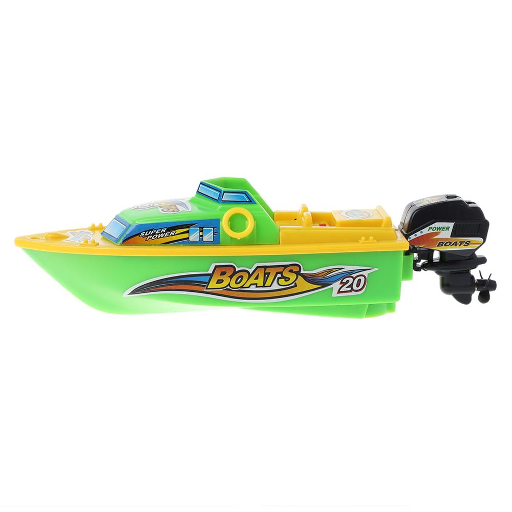 High Speed Electric Boat Plastic Launch Children RC Toys Speedboat Water Play Gift For Kids