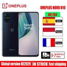 Küresel sürüm OnePlus Nord N10 5G Telefones Celulares 6GB 128GB Snapdragon 690 Smartphone 90Hz ekran 64MP dört kamera NFC