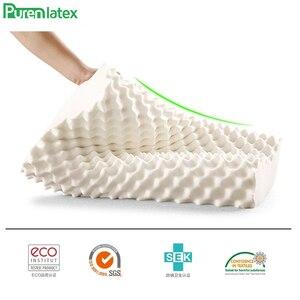 Image 3 - PurenLatex 60x38 Таиланд чистый натуральный ортопедический латекс подушка для шеи шейный защитный позвоночник массаж коррекция тела подушки
