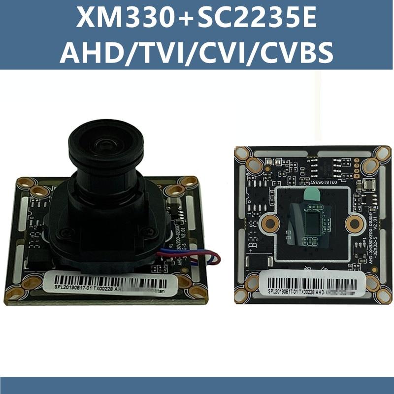 Xm330 + 2235e ahd/tvi/cvi/xvi/cvbs placa do módulo de câmera 1080n 960 h 1920*1080 irc m12 lente cctv vigilância de segurança