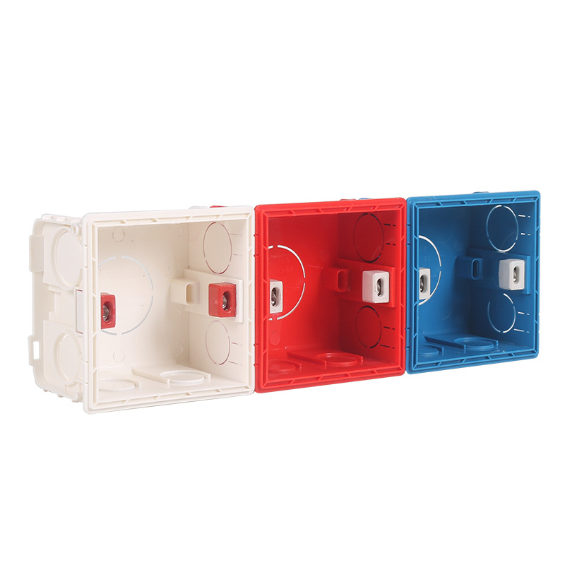 High quality 86 type concealed junction box bottom box cassette embedded switch socket universal installation box three colors