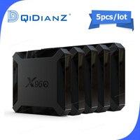 5pcs X96q smart TV Box android 10.0 allwinner h313 quad core 2G 16G 4k 3d x96 q mini android tv set top box media player