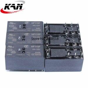 Image 1 - 10pcs Relay HF115F 005 1ZS3 HF115F 012 1ZS3 HF115F 024 1ZS3 250V 16A relay 8 pin relay 5V/12V/24VDC relay