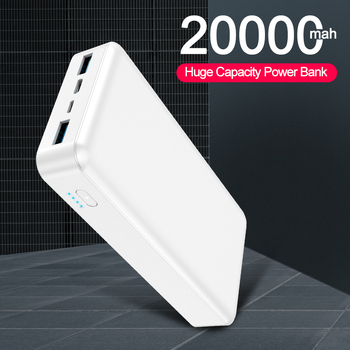 20000mAh Power Bank Portable Dual USB Charger Powerbank For iPhone 11 Pro Xiaomi Mobile Phone External Battery Charger Powerbank topk power bank 20000mah portable battery charger quick charge pd 3 0 for iphone xiaomi samsung mobile phone