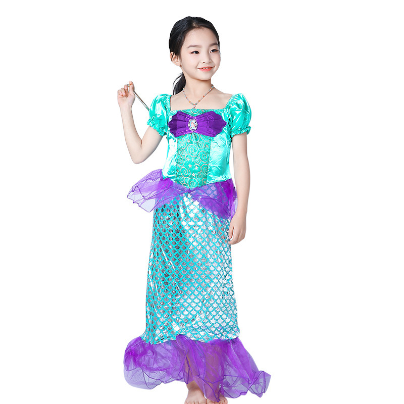 Small Princess Sophie Second Snow White Real dress Girl Mermaid Real Clothes Halloween Children Show Clothing in Dresses from Mother Kids