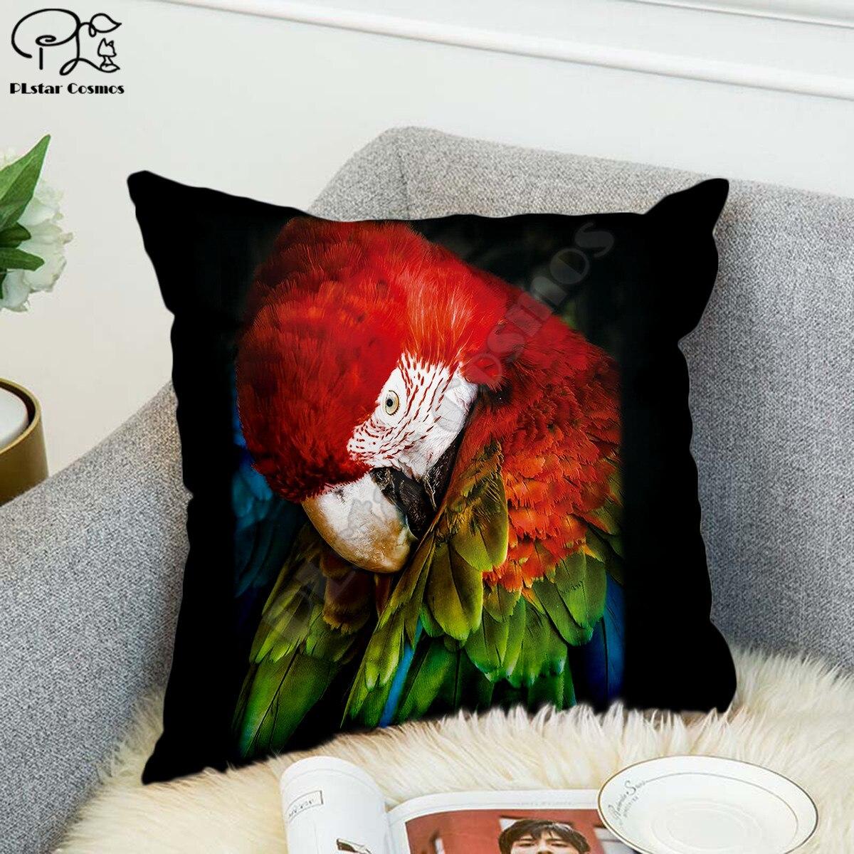 Забавный попугай 3d Полиэстеровая ткань с принтом декоративные