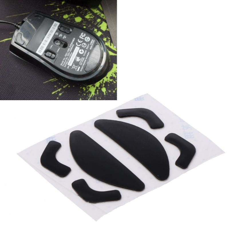 2 Sets 0.6mm Thickness Teflon Mouse Skates Mouse Stickers Pad For Razer Abyssus 634B