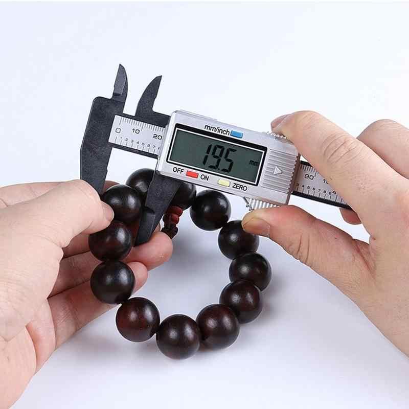 Pied à coulisse en Fiber de carbone aspect lisse superbe artisanat LCD numérique jauge de mesure électronique micromètre