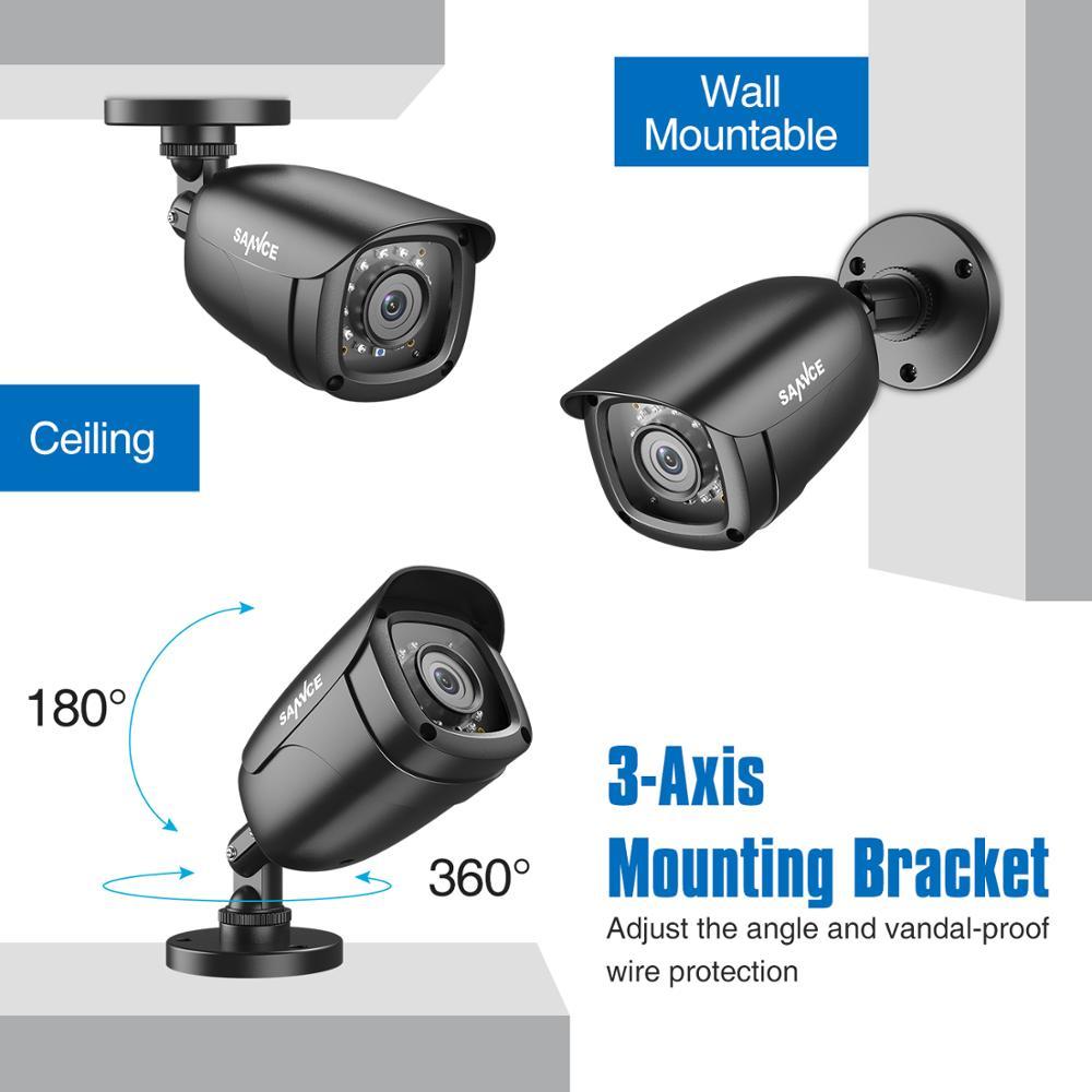 SANNCE 4CH HD 1080P CCTV-System 1080P HDMI-Ausgang CCTV DVR HD 2.0MP - Schutz und Sicherheit - Foto 4