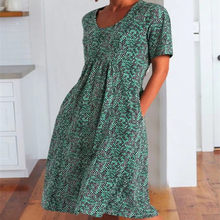 2021 Summer Elegant Short Sleeve Casual Spot Dot Print O Neck Folds Midi Vintage Dress Women Plus Size Women Clothing Boho Dress