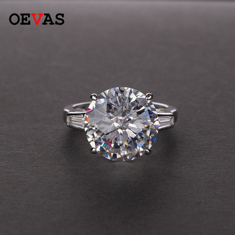 OEVAS Classic 100% 925 Sterling Silver Citrine Pink Sapphire Moissanite Gemstone Engagement Cocktail Rings Jewelry Wholesale