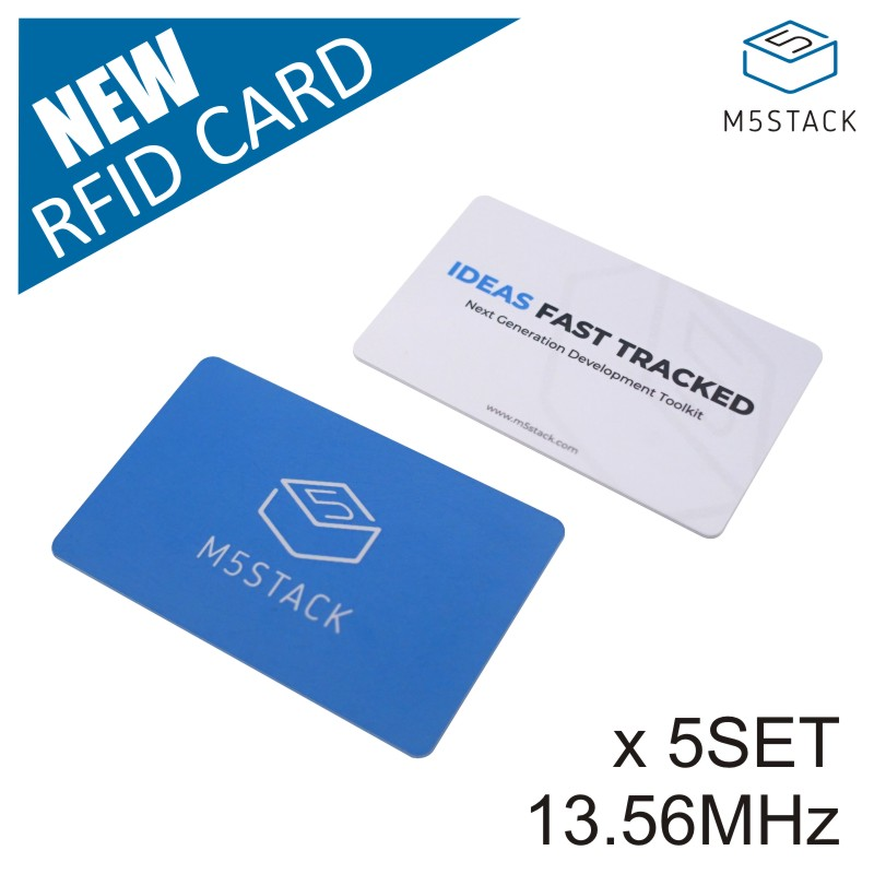 M5Stack Official RFID Contactless Card Smart Cart For Transport/ City Metro Entry Card RFID Token Support Customized