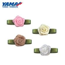YAMA Rose Foliage Flower Diameter 10mm±2mm Leaf 22mm±3mm 200pcs/bag Satin Ribbon Hotel Decoration Gift Box Packaging home textil