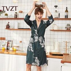 Tvzt 2020 spring and summer new pajamas men spring and summer home service men pajamas tiger print comfortable