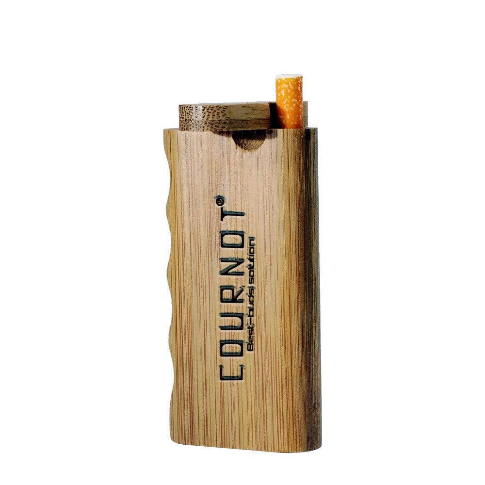 HORNET натуральная бамбуковая Dugout с керамической одной летучей мышью 48*103 мм Мини бамбуковая коробка Dugout дымовая трубка аксессуары - Цвет: Bamboo Dugout