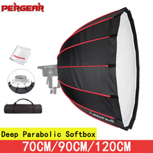 Pergear LAOFAS Deep Parabolic Softbox Fast Installation with Honeycomb Grid Bowens Flash Light Photography Softbox godox 35cm 160cm strip beehive honeycomb grid softbox with for bowens mount studio strobe flash light photography lighting