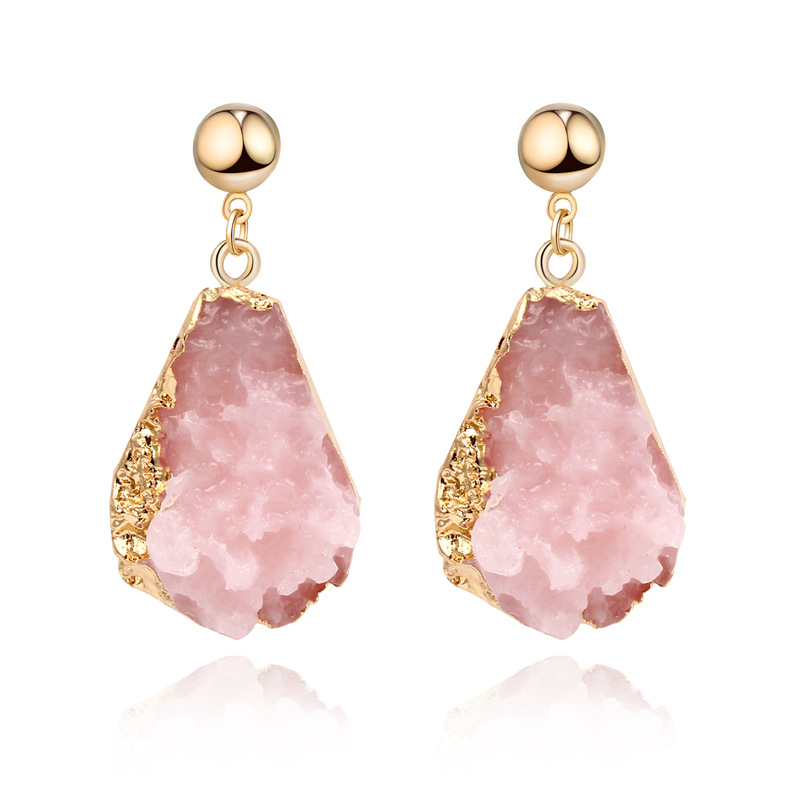 CHENFAN Jewelry Clothing Accessories Resin Imitation Stone Earrings For Women Female Earrings 2019 Birthday Party