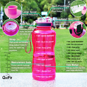 Image 4 - BuildLife 1.3L 2L Water Bottle For Bpa Free Tritan Outdoor Sports Gym Fitness Gourde Sport Plastic Drinking Bottle With Filter