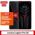 Глобальная прошивка Поддержка Lenovo Легион Pro 5G игровой телефон 6,65 дюймов 144 Гц OLED Snapdragon 865 плюс Octa Core WiFi 6 Google Play 5000 мА-ч
