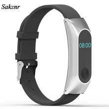 SAKZNR Simplestone Replacement Wristband Band Strap + Metal Case Cover For Xiaomi Mi Band 2 Bracelet(China)