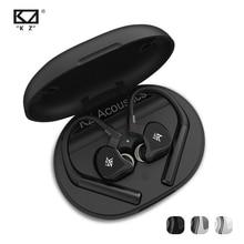 KZ E10 Tws Bluetooth 5.0 Aptx אוזניות 1DD 4BA אלחוטי מגע בקרת היברידי Earbud אוזניות ספורט רעש ביטול בס אוזניות