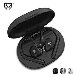 Image 1 - KZ E10 Tws Bluetooth 5.0 Aptx 이어폰 1DD 4BA 무선 터치 컨트롤 하이브리드 이어 버드 헤드셋 스포츠 소음 제거 저음 이어폰