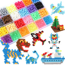 6000pcs 30colors Refill Beads Puzzle Crystal DIY Water Spray Beads Set Ball Games Handmade Magic Toys Forchildren Diy Beads