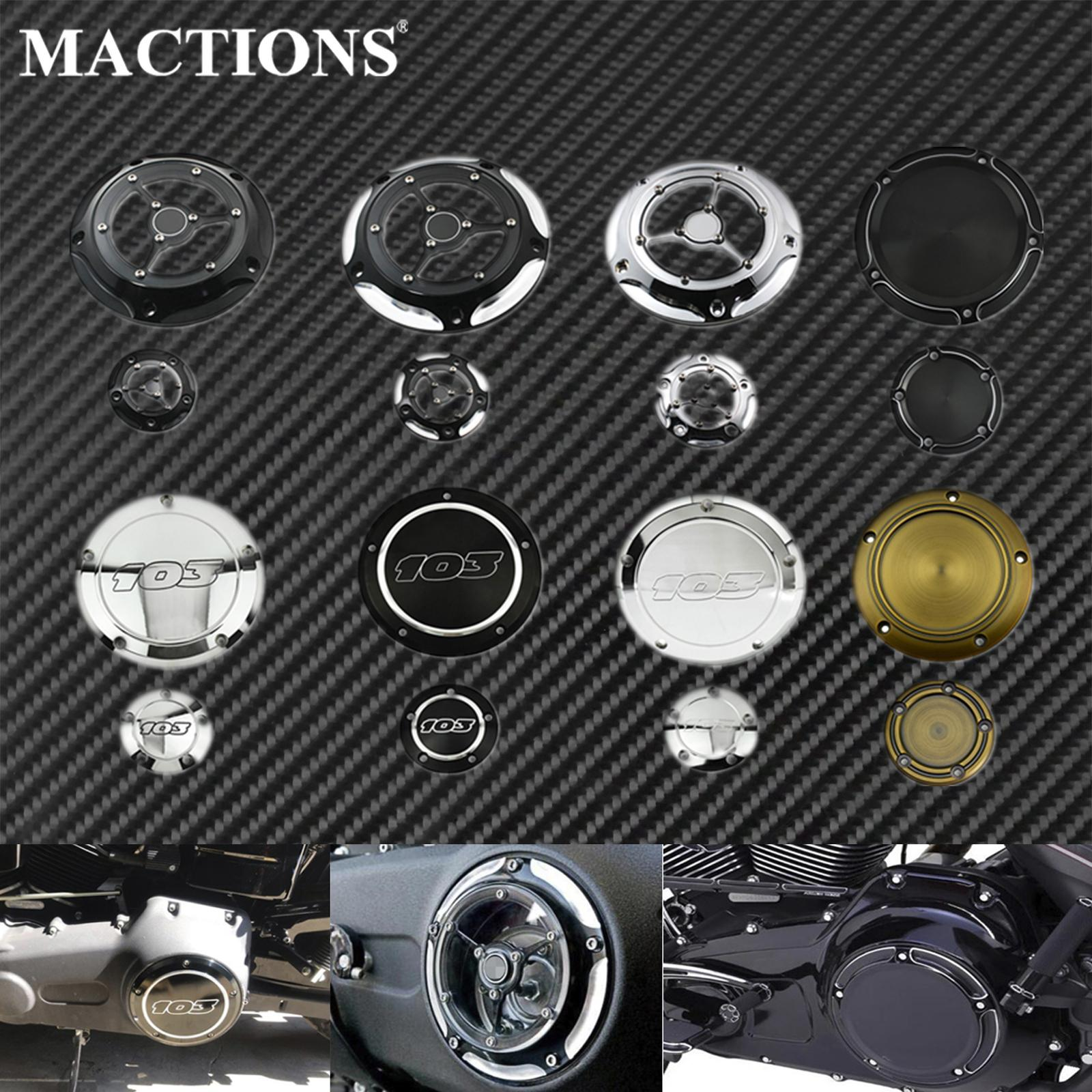 Motorcycle Derby Cover Clutch Timing Timer Cover Black Chrome For Harley Touring Road King Dyna FLD Softail Deluxe FLSFB 1999-17