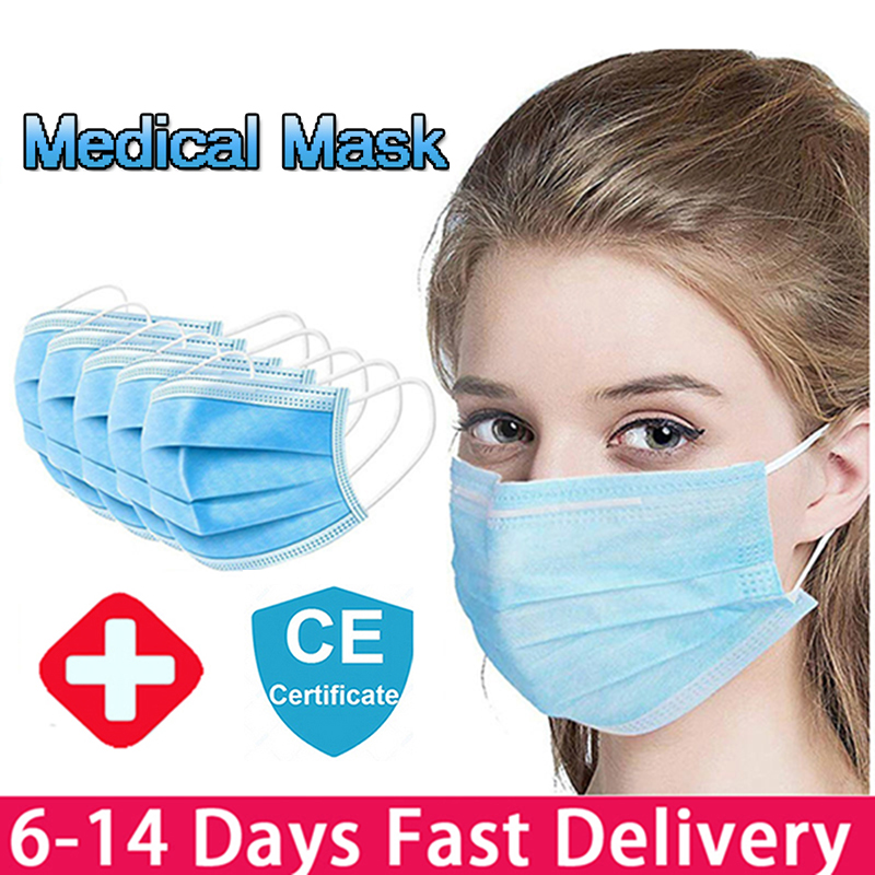 Disposable Medical Mask Protective Mask 3 Layer Anti-Pollution Filter Mouth Face Mask Anti-Fog Face Cover Mouth