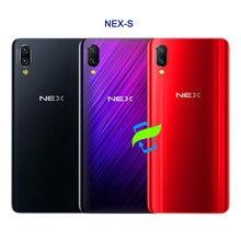 Nex s voltar vidro da bateria capa para vivo nex a s habitação 3d caso de vidro para nex s porta traseira volta capa