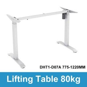 Image 4 - Computer da tavolo di sollevamento elettrico per bambini da tavolo colonna di sollevamento gambe gambe mobili tavolo scrivania intelligente staffa di sollevamento regolabile in altezza