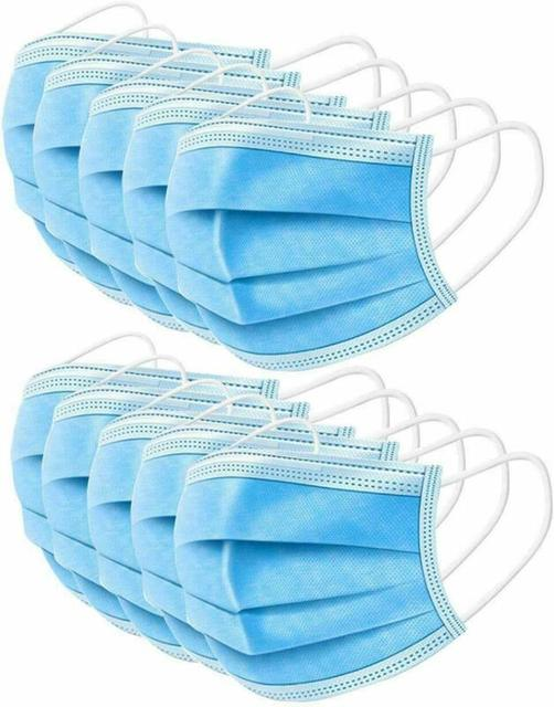 10/20/50Pcs Disposable Earloop Flu Face Mask LEVEL 3 Ply Disposable Anti-Bacteria Ear Loop Mouth Masks Facial Protective Mask 3