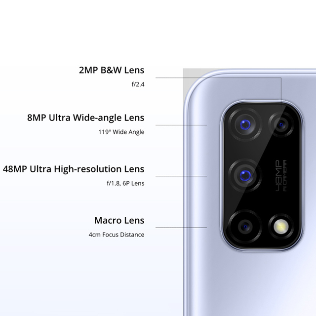 realme 7 5G 6.5''FHD+ Dimensity 800U 6GB 128GB 120Hz Display 48MP Camera 5000mAh 30W Dart Charge NFC Mobile Phone 3