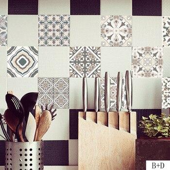 Arabischen Stil Wand Fliesen Aufkleber Home Decor Wohnzimmer Küche Bad Dekoration Vinyl Wandbild Decals DIY Self-adhesive Wallpaper