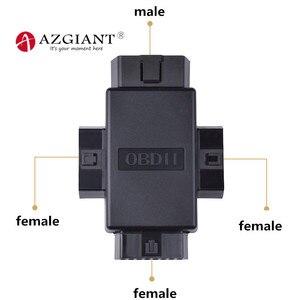 Image 1 - Xe OBD2 một chia thứ ba đầu nối nam nữ dây 16Pin cắm OBDII ổ cắm