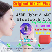 Original Air21 Plus-Bluetooth 5 2 wireless TWS headset 45DB ANC hybrid device super bass 1562Ps PK 1562A cheap CQQGKPL In-Ear NONE Dynamic CN(Origin) True Wireless 120dB Common Headphone For Mobile Phone HiFi Headphone Sport Line Type