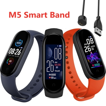 2020 New M5 Smart Watch Men Women Heart Rate Monitor Blood Pressure Fitness Tracker Smartwatch Band5 Sport Watch for Android IOS